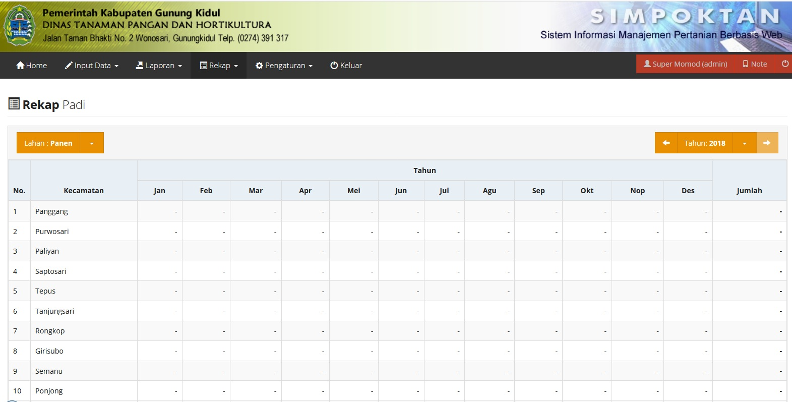 Sistem Informasi Pertanian (SIMPOKTAN) Technophoria Indonesia