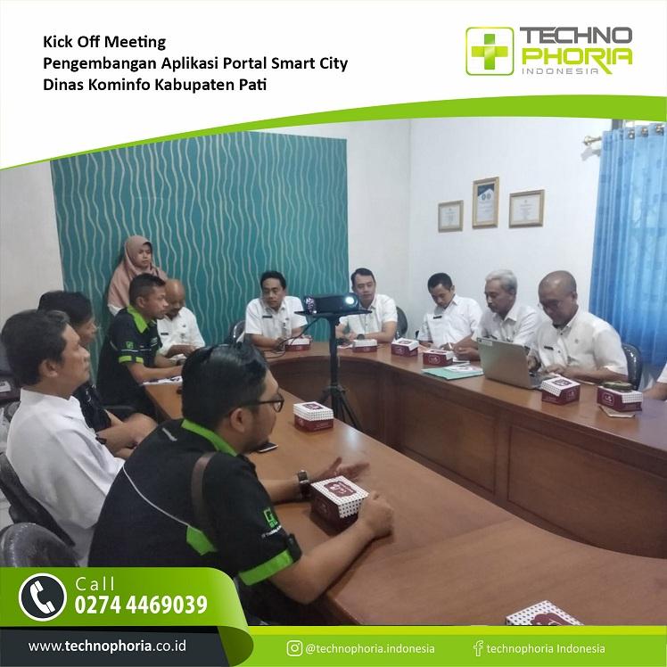 berita dan informasi kegiatan Technophoria Kick Off Meeting Pengembangan Aplikasi Portal Smart City Kabupaten Pati