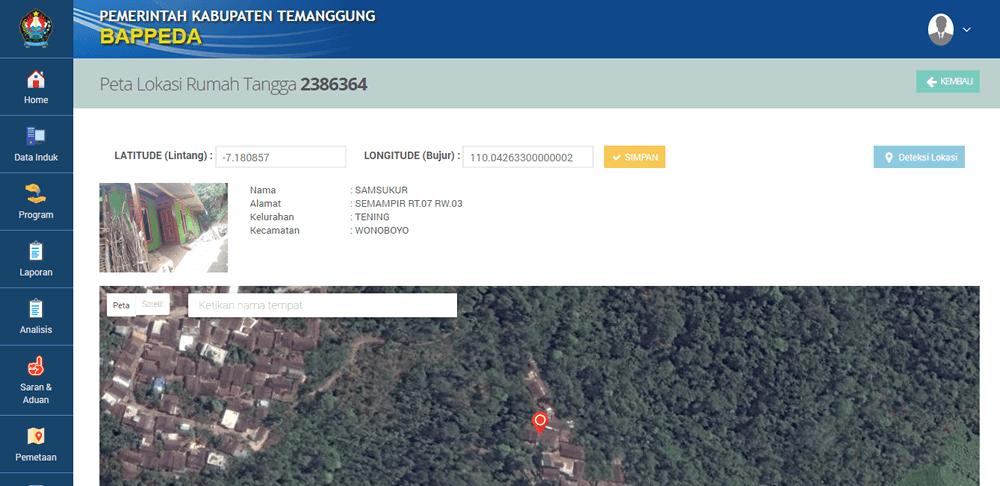 Peta Aplikasi Sistem Informasi Penanggulangan Kemiskinan Terpadu (simnakisdu-e-nangkis-simnangkis-PBDT)