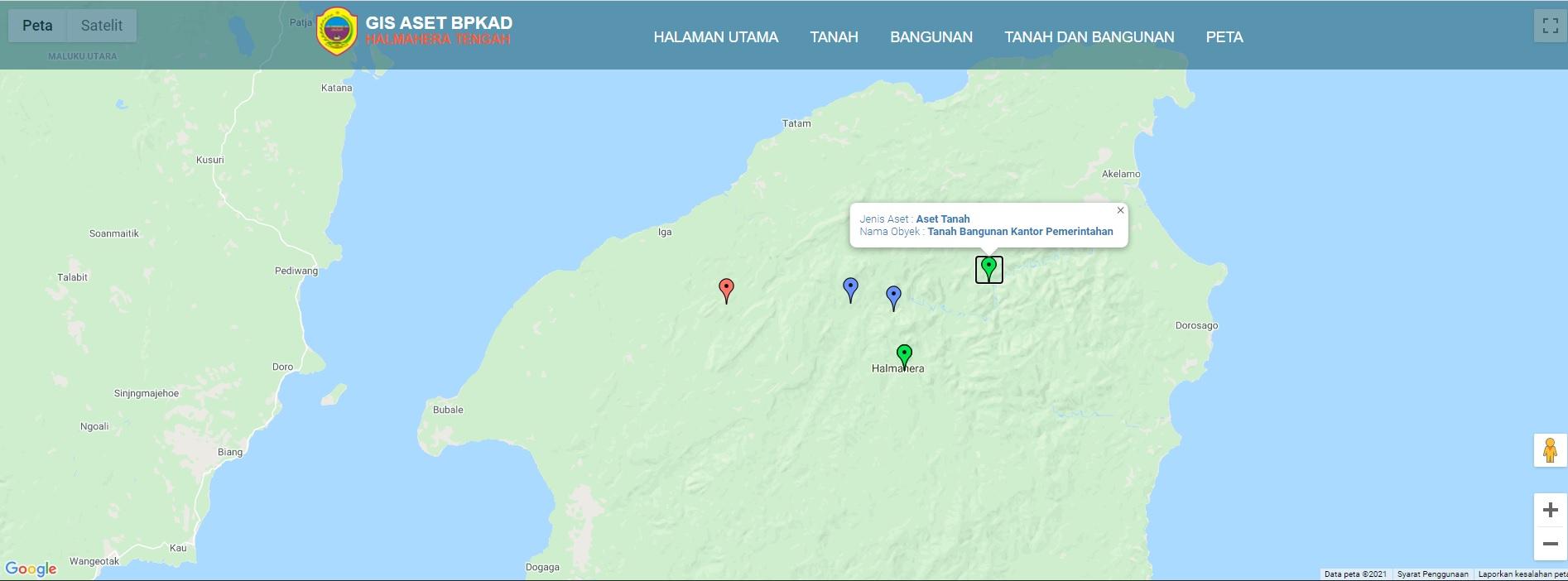 webgis pemetaan aset tanah dan bangunan pemerintah daerah