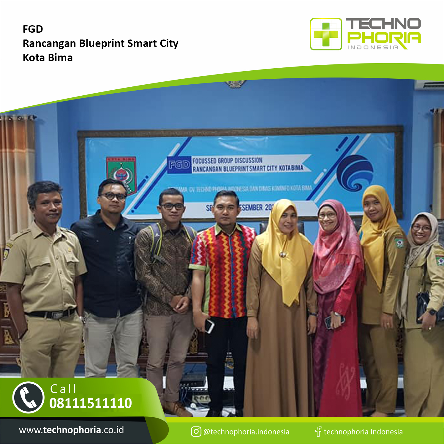 berita dan informasi kegiatan Technophoria Focus Group Discussion Rancangan Blueprint Smart City Kota Bima